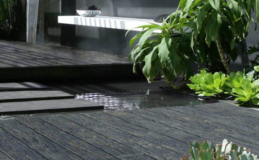 Madeira carbonizada Shou Sugi Ban para deck